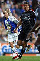 Photo: Paul Thomas.<br /> Blackburn Rovers v Chelsea. The Barclays Premiership. 27/08/2006.<br /> <br /> Michael Ballack of Chelsea in action.