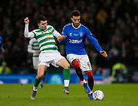 Football - 2019 Betfred Scottish League Cup Final - Celtic vs. Rangers<br /> <br /> Connor Goldson of Rangers vies with Lewis Morgan of Celtic, Hampden Park Glasgow.<br /> <br /> COLORSPORT/BRUCE WHITE