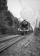 The Flying Scotsman, travelling through Mellis, Suffolk