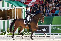 Belinda Trussel, (CAN), Anton - Grand Prix Special Dressage - Alltech FEI World Equestrian Games™ 2014 - Normandy, France.<br /> © Hippo Foto Team - Leanjo de Koster<br /> 25/06/14