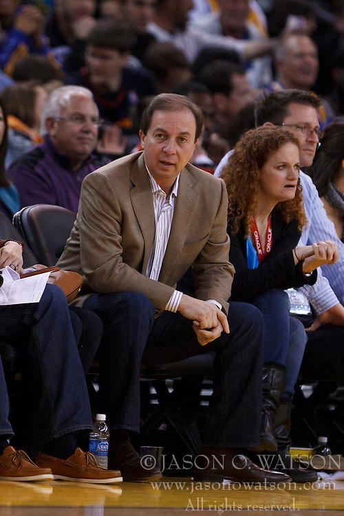 Mar 28, 2012; Oakland, CA, USA; Golden State Warriors owner Joe Lacob on the sidelines against the New Orleans Hornets during the third quarter at Oracle Arena. New Orleans defeated Golden State 102-87. Mandatory Credit: Jason O. Watson-US PRESSWIRE