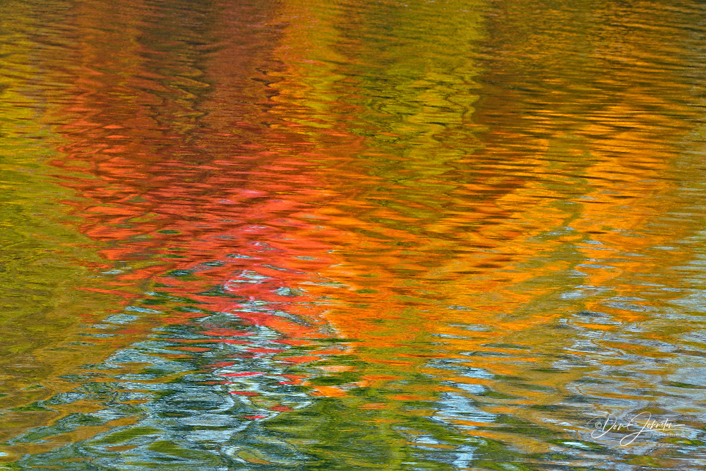 Autumn reflections in Elbow Lake, Greater Sudbury (Wanup), Ontario, Canada