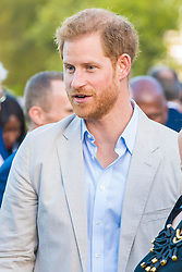 September 24, 2019, Cape Town, SOUTH AFRICA: 24-09-2019 Cape Prince Harry during a reception for young people, community and civil society leaders at the Residence of the British High Commissioner in Cape Town, on the 2nd day of the visit to South Africa..The Commonwealth Point of Light awards recognise outstanding individual volunteers who are making a change in their community. .These awards were given for the young leaders work in helping the environment. (Credit Image: © face to face via ZUMA Press)