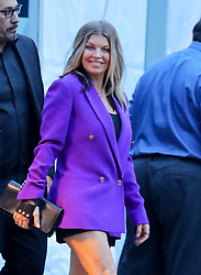 EXCLUSIVE: Fergie was shows her legs while taking a ride in a golf car in Central Park in NYC. 14 May 2018 Pictured: Fergie. Photo credit: ZapatA/MEGA TheMegaAgency.com +1 888 505 6342