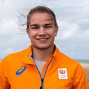 NLD/Scheveningen/20160713 - Perspresentatie judoka's voor de Olympische Spelen 2016 in Rio de Janeiro, Sanne Verhagen