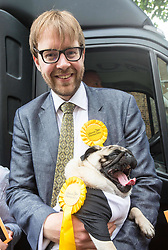 May 31, 2017 - London, London, United Kingdom - Image ©Licensed to i-Images Picture Agency. 31/05/2017. London, United Kingdom. Liberal Democrats campaigning,.Lambeth Lib Dem candidate, George Turner with 3 year old pug, Nelson. London. Picture by Mark Thomas / i-Images (Credit Image: © Mark Thomas/i-Images via ZUMA Press)