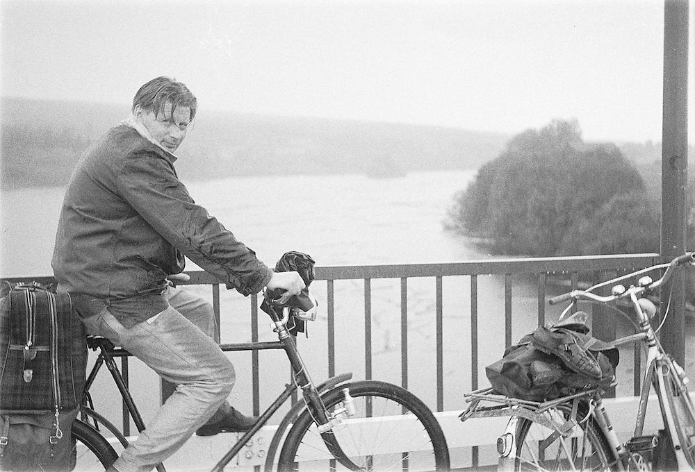 Med pappa på cykel till Dalarna