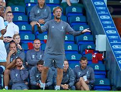 BLACKBURN, ENGLAND - Thursday, July 19, 2018: Liverpool's manager Jürgen Klopp during a preseason friendly match between Blackburn Rovers FC and Liverpool FC at Ewood Park. (Pic by Paul Greenwood/Propaganda)