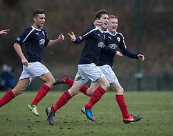 Falkirk's Blair Alston (8) celebrates after scoring their second goal..Hamilton 1 v 2 Falkirk, Scottish Cup quarter-final, Saturday, 2nd March 2013..©Michael Schofield.