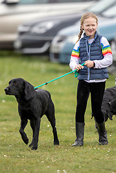 Savannah Phillips before watching her Aunt, Zara Tindall, compete at the Land Rover Gatcombe Horse Trials on the estate of the Princess Royal.