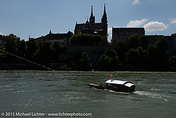 Crossing the River Rhein after the Art and Wheels art and motorcycle show in Basel, Switzerland. May 18, 2015. Photography ©2015 Michael Lichter.