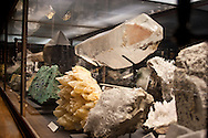 Mineral specimens in the natural history museum in Vienna Austria, The Naturhistorisches Museum Wien