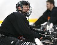 1/4/07 -- Omaha, NE<br />  -- USHL player Nick Petreck at practice <br /> <br /> Photo by Chris Machian, Prairie Pixel Group