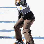 Sarah Goldman (Park City, UT) performs aerial acrobatics during the 2009 Sprint US Freestyle Championships held at the Utah Olympic Park in Park City on March 8, 2009. Goldman scored 95.20 points on the day which was good enough for 10th place overall.