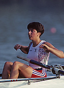 Barcelona, SPAIN.   GBR W4-. Kim THOMAS, 1992 Olympic Rowing Regatta Lake Banyoles, Catalonia [Mandatory Credit Peter Spurrier/ Intersport Images] Last time Men's coxed pair raced at the Olympics