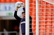 Wimbledon goalkeeper Tom King (1), on loan from Millwall, warming up  during the EFL Sky Bet League 1 match between Blackpool and AFC Wimbledon at Bloomfield Road, Blackpool, England on 20 October 2018.