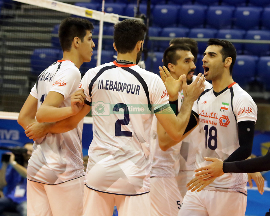 September 12, 2018 - Varna, Bulgaria - in the right Mohammad Taher VADI (Iran), .FIVB Volleyball Men's World Championship 2018, pool D, Iran vs Puerto Rico,. Palace of Culture and Sport, Varna/Bulgaria, .the teams of Finland, Cuba, Puerto Rico, Poland, Iran and co-host Bulgaria are playing in pool D in the preliminary round. (Credit Image: © Wolfgang Fehrmann/ZUMA Wire)