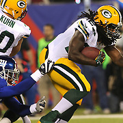 Eddie Lacy, Green Bay Packers, in action during the New York Giants Vs Green Bay Packers, NFL American Football match at MetLife Stadium, East Rutherford, New Jersey, USA. 17th November 2013. Photo Tim Clayton