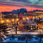 Plaza Lights - Country Club Plaza lit up for the Christmas/holiday season, Kansas City, Missouri.<br /> <br /> Repped for print sales by Prairiebrooke Arts, 913-341-0333