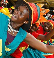 Photo: Steve Bond/Richard Lane Photography.<br />Ghana v Cameroon. Africa Cup of Nations. 07/02/2008. Cameroon fans