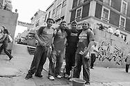 città del Messico,giovani lavoratori edili