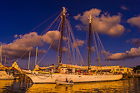 Schooner Western Union, Key West Bight Marina, Key West, Florida Keys, Florida USA