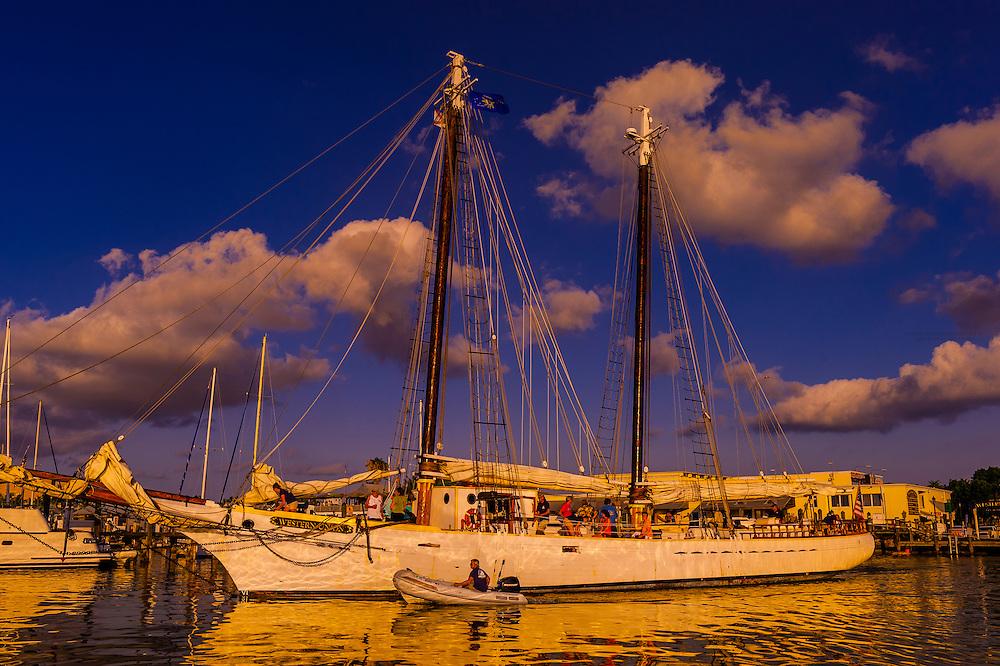 Schooner Western Union, Key West Bight Marina, Key West, Florida Keys, Florida USA