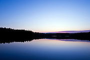 Sunset on Walden Pond, made famous by Henry David Thoreau