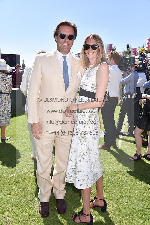 Jonathan & Flora Goodwin at the Qatar Goodwood Festival - Glorious Goodwood, Goodwood Racecourse, West Sussex 02 August 2018.