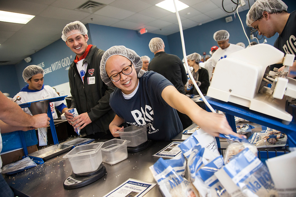 Ben Redding and Allison Kim at Feed My Starving Children