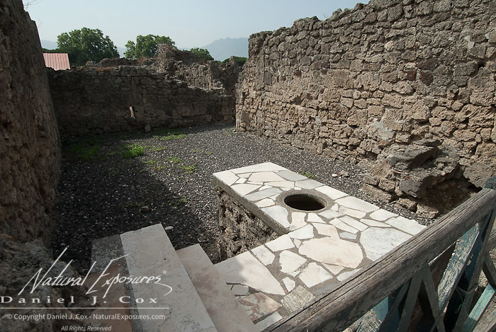 The remains of a home destroyed by the eruption of Mount Vesuvius in A.D. 79 , Pompei, Italy