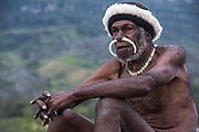 Dani tribe man (Oka)<br /> Budaya village<br /> Suroba<br /> Trikora Mountains<br /> West Papua<br /> Indonesia