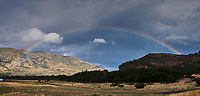Rainbow Over Patagonia. Along the road to Lago Grey in Chile. Composite of two images taken with a Fuji X-T1 camera and 23 mm lens (ISO 400, 23 mm, f/16, 1/320 sec).