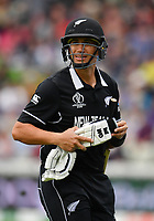 Cricket - 2019 ICC Cricket World Cup - Group Stage: New Zealand vs. South Africa<br /> <br /> New Zealand's Ross Taylor dejected as he is out for 1 caught by South Africa's Quinton de Kock off the bowling of Chris Morris, at Edgbaston, Birmingham.<br /> <br /> COLORSPORT/ASHLEY WESTERN