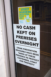Crime prevention poster on a door in Hastings,
