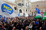 Manifestazione organizzata da 'Noi con Salvini' contro la legge sullo Ius Soli, Roma 10 Dicembre 2017. Christian Mantuano / OneShot<br /> <br /> Lega Nord party supporters demonstrate against the 'Ius Soli' law on December 10, 2017 in Rome. Christian Mantuano / OneShot