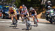 Professional cyclists at the Amgen Tour of California, Ojai, California USA