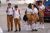 School Kids, Havana, Cuba 2020 from Santiago to Havana, and in between.  Santiago, Baracoa, Guantanamo, Holguin, Las Tunas, Camaguey, Santi Spiritus, Trinidad, Santa Clara, Cienfuegos, Matanzas, Havana