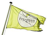 MAASSLUIS - Vlag Hockeyclub Evergreen, een kleine vriendelijke laagdrempellige hockeyclub. , FOTO KOEN SUYK