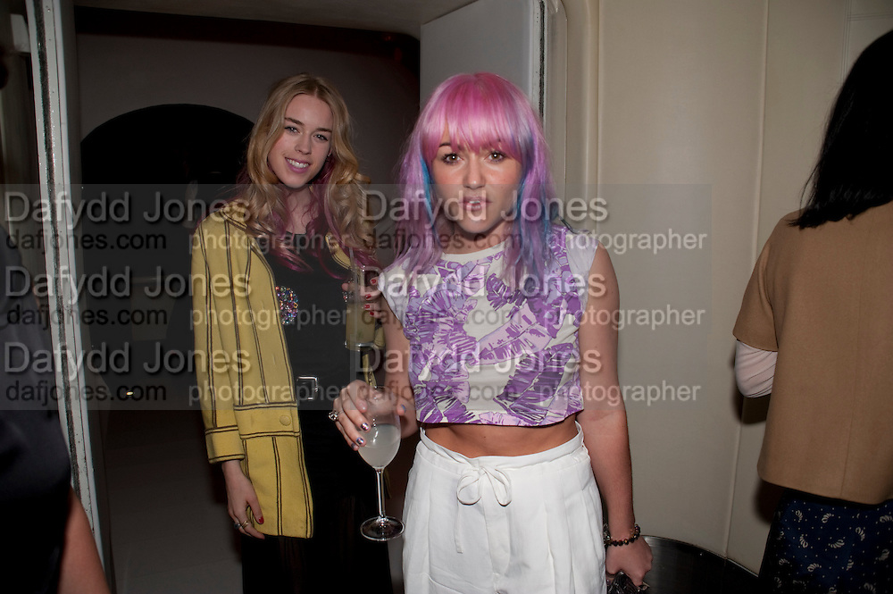 MARY CHARTERIS; JAMIE WINSTONE, Esquire Magazine's June issue hosted by the magazine's new editor Alex Bilmes and singer Lily Allen. Sketch.  5 May 2011<br /> <br />  , -DO NOT ARCHIVE-© Copyright Photograph by Dafydd Jones. 248 Clapham Rd. London SW9 0PZ. Tel 0207 820 0771. www.dafjones.com.