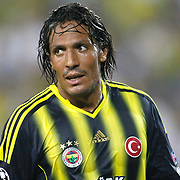 Fenerbahce's Bruno Alves during the UEFA Champions League Play-Offs First leg soccer match Fenerbahce between Arsenal at Sukru Saracaoglu stadium in Istanbul Turkey on Wednesday 21 August 2013. Photo by Aykut AKICI/TURKPIX