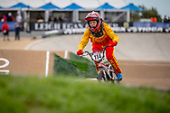 #114 (LIU Yunyun) CHN at Round 2 of the 2020 UCI BMX Supercross World Cup in Shepparton, Australia.