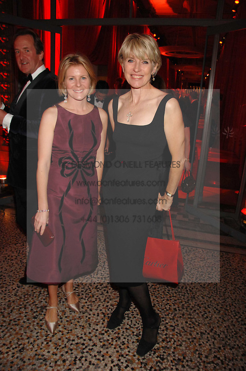 Left to right, VISCOUNTESS LINLEY and SELINA SCOTT at a dinner held at the Natural History Museum to celebrate the re-opening of their store at 175-177 New Bond Street, London on 17th October 2007.<br /><br />NON EXCLUSIVE - WORLD RIGHTS