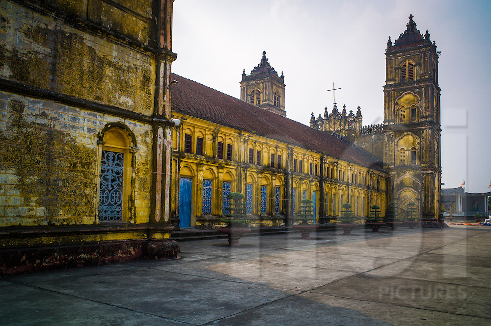 Bui Chu Church, one of the oldest churches in Vietnam (built in 1885) <br /> Xuan Ngoc Commune, Xuan Truong District<br /> , Nam Dinh Province, Vietnam, Southeast Asia