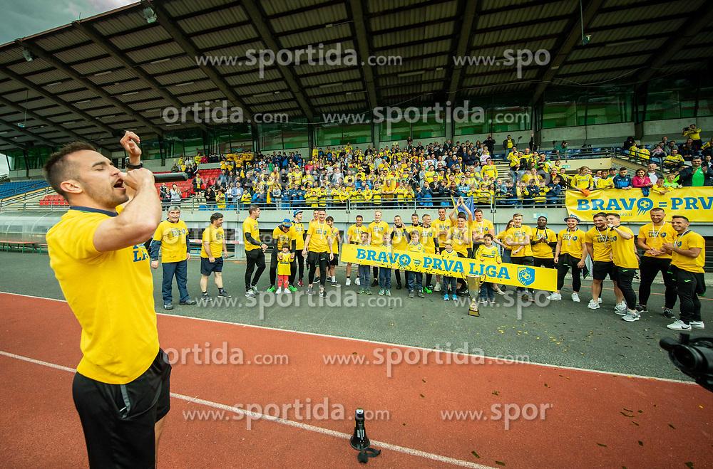 Celebration of NK Bravo, winning team in 2nd Slovenian Football League in season 2018/19 after they qualified to Prva Liga, on May 26th, 2019, in Stadium ZAK, Ljubljana, Slovenia. Photo by Vid Ponikvar / Sportida
