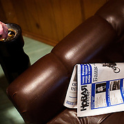 A copy of the Novaya Gazeta lays on a couch of the newspaper's editorial office in Moscow. .Novaya Gazeta, known for its critical stance, counted among its journalists Anna Politkovskaya, shot dead in her apartment block in October 2006..Politkovskaya was one of the strongest voices against the Kremlin and its policy in Chechnya. Two other journalist at Novaya Gazeta were murdered before her.