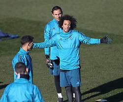 December 4, 2017 - Madrid, Spain - Marcelo of Real Madrid during a training session at Valdebebas training ground on December 5, 2017 in Madrid, Spain. (Credit Image: © Raddad Jebarah/NurPhoto via ZUMA Press)