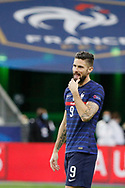 Olivier Giroud (FRA) reacted during the UEFA Nations League football match between France and Sweden on November 17, 2020 at Stade de France in Saint-Denis, France - Photo Stephane Allaman / ProSportsImages / DPPI