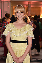 "Hannah Arterton at the opening of ""Frida Kahlo: Making Her Self Up"" Exhibition at the V&A Museum, London England. 13 June 2018."