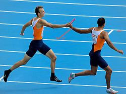 30-07-2010 ATLETIEK: EUROPEAN ATHLETICS CHAMPIONSHIPS: BARCELONA<br /> Joeri Moerman en Youssef  El Rhalfioui<br /> ©2010-WWW.FOTOHOOGENDOORN.NL